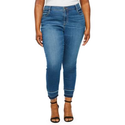a.n.a Womens Denim Ankle Jean - Plus
