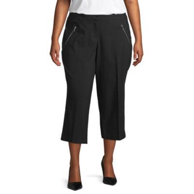 Worthington Womens Centenial Crop Pant-Plus