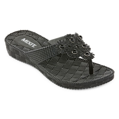 Mixit Womens Wedge Flip-Flops