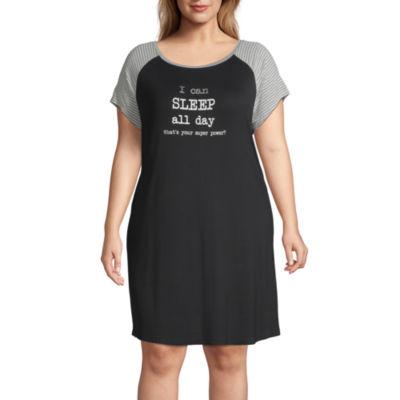 Ambrielle Womens Short Sleeve Nightshirt