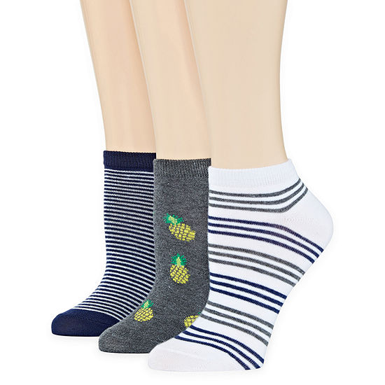 Mixit 3 Pair Low Cut Socks - Womens