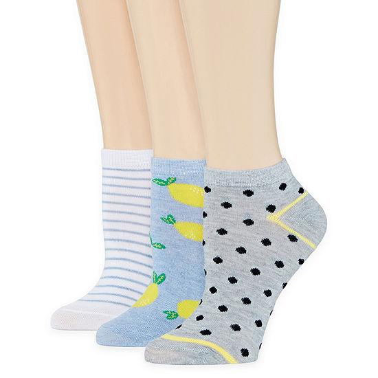 Mixit 3 Pair Low Cut Socks Womens