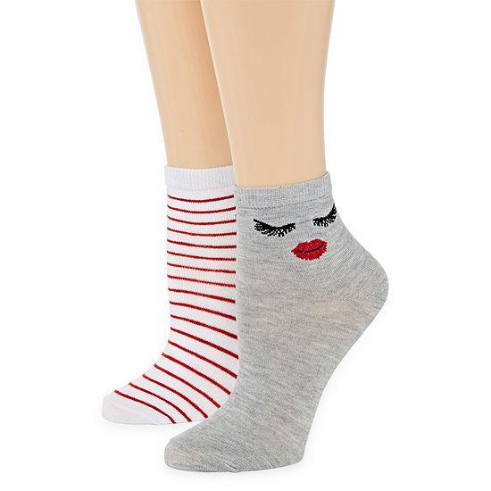Mixit 2 Pair Low Cut Socks Womens