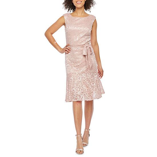 1a55fe2488 Scarlett Sleeveless Lace Fit   Flare Dress - JCPenney