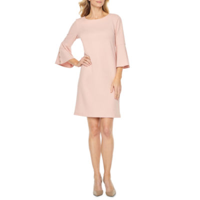 Liz Claiborne 3/4 Grommet Bell Sleeve Shift Dress