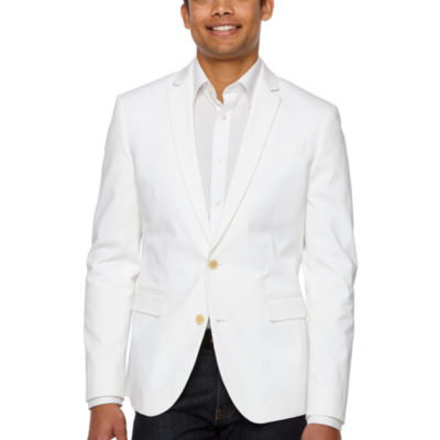 JF J.Ferrar 360 Everyday Stretch White Slim Fit Sport Coat
