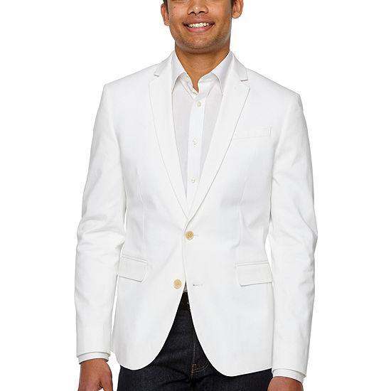Jf Jferrar 360 Everyday Stretch White Slim Fit Sport Coat