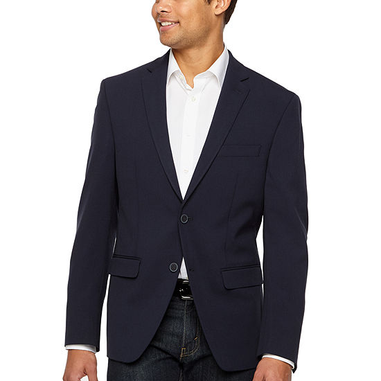 Collection by Michael Strahan Solid Navy Classic Fit Sport Coat