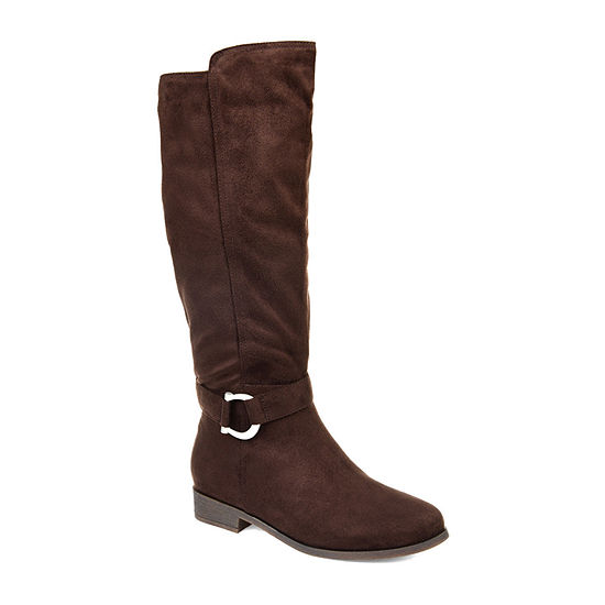 Journee Collection Womens Cate Stacked Heel Zip Riding Boots
