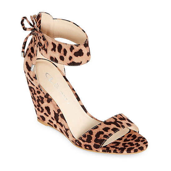 CL by Laundry Womens Corie Open Toe Wedge Heel Pumps