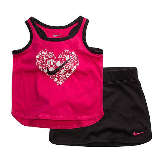 Nike Little Girls 2-pc. Skort Set