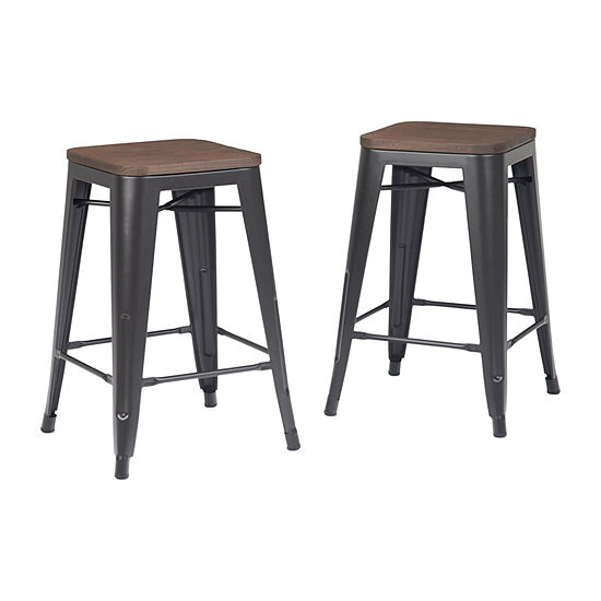Simpli Home 2-pc. Counter Height Bar Stool