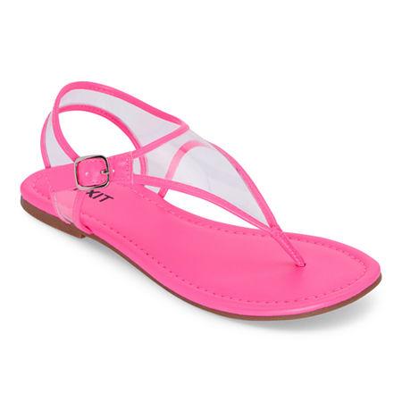 Vintage Shoes in Pictures | Shop Vintage Style Shoes Mixit Womens Slate T-Strap Flat Sandals 6 12 Medium Pink $33.75 AT vintagedancer.com