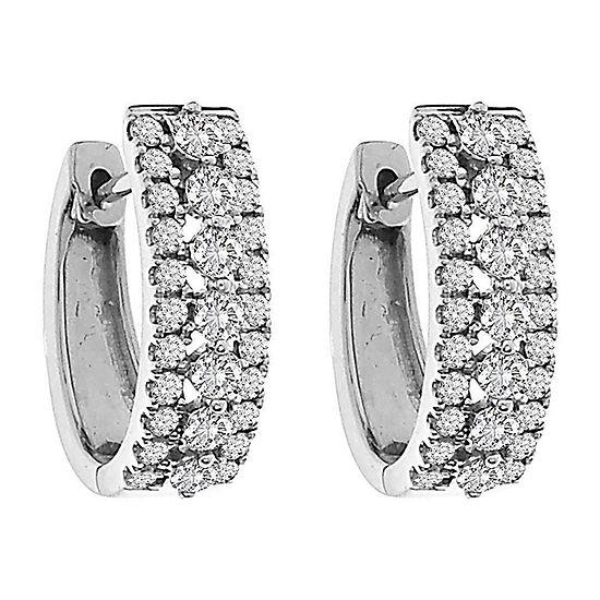 2 CT. T.W. Genuine White Diamond 10K Gold Drop Earrings