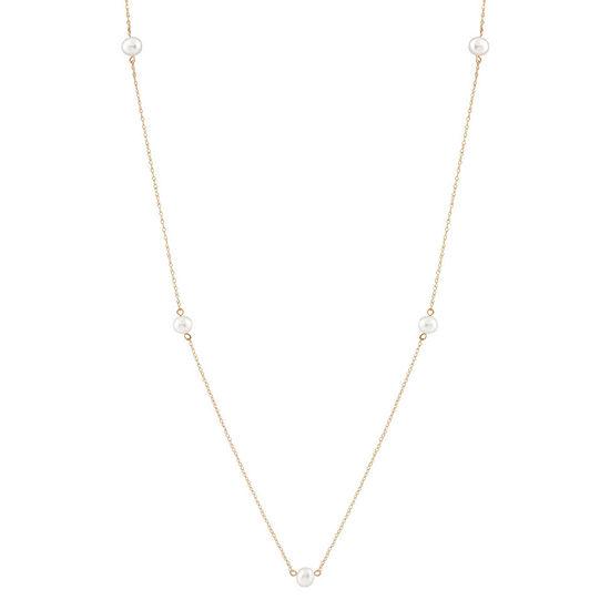Girls 15 Inch 14K Gold Link Necklace
