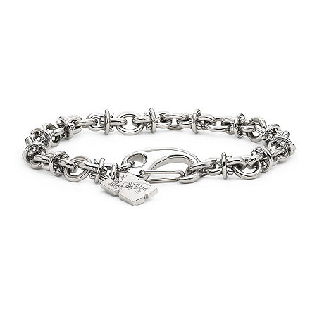 Men's Barbed Wire Bracelet Stainless Steel, One Size