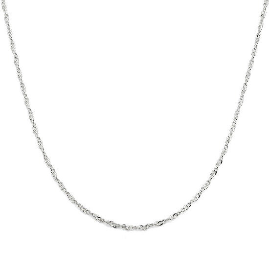 Made in Italy Sterling Silver Twisted Cable Chain Necklace