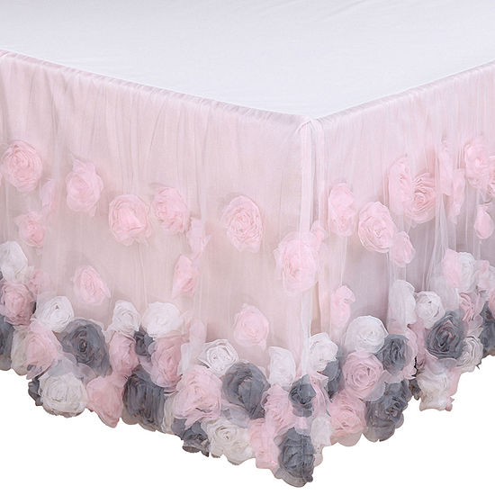 The Peanut Shell Colette Crib Skirt