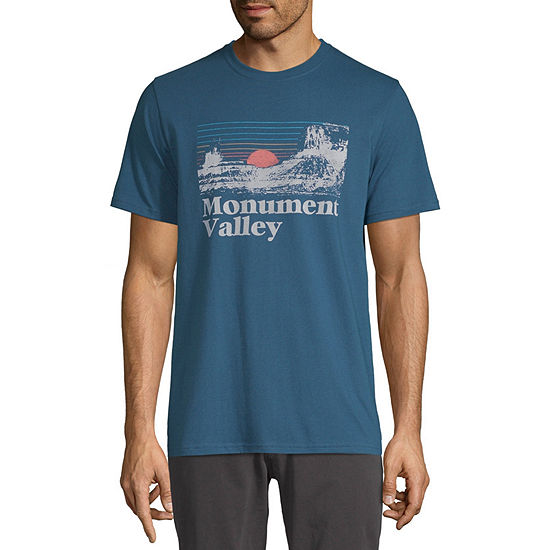 St. John's Bay Outdoor Mens Crew Neck Short Sleeve Graphic T-Shirt