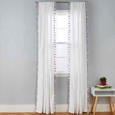 Frank And Lulu Rod-Pocket Single Curtain Panel