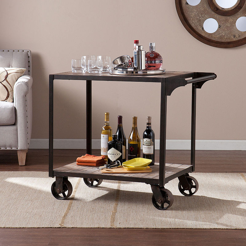 Must Have Dayne Bar Cart One Size Black From Asstd National Brand Accuweather Shop