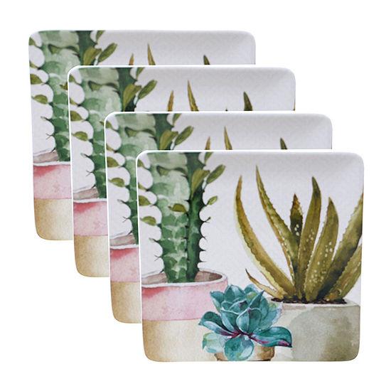 Certified International Cactus Verde 4-pc. Dinner Plate