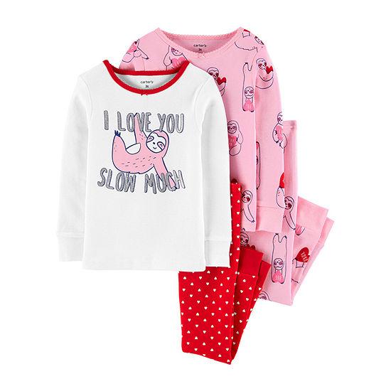 Carter's Toddler Girls 4-pc. Pajama Set