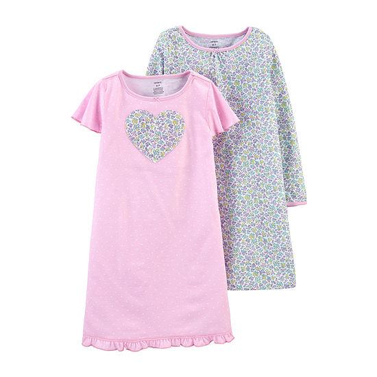 Carter's Girls Round Neck 2-pc Nightgown