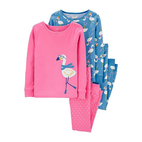 Carter's Little Kid / Big Kid Girls 4-pc. Pajama Set
