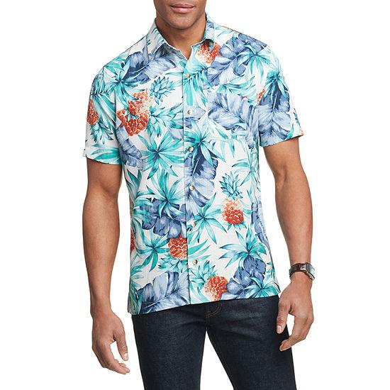 Van Heusen Mens Short Sleeve Air Oasis Button-Down Shirt