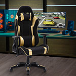 Corliving Corliving Black And Silver High Back Ergonomic Gaming Chair Office Chair