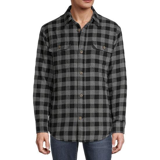 St. John's Bay Outdoor Flannel Midweight Shirt Jacket