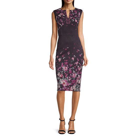 Ivy & Blue Sleeveless Floral Fit & Flare Dress