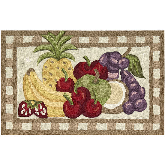 Nourison® Fruit Utility Rectangular Rug