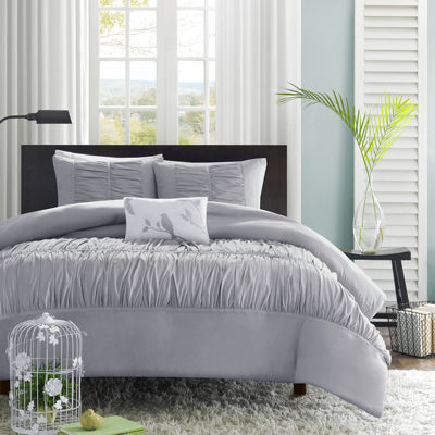 Mi Zone Delia Ruched Duvet Cover Set