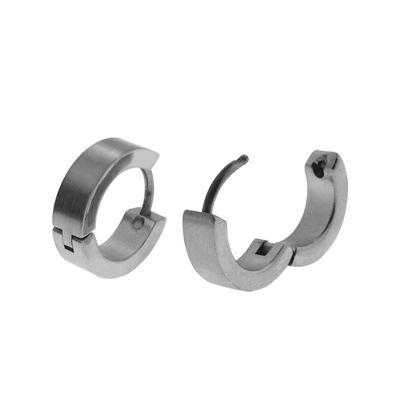 Stainless Steel Huggie 12.7mm Hoop Earrings