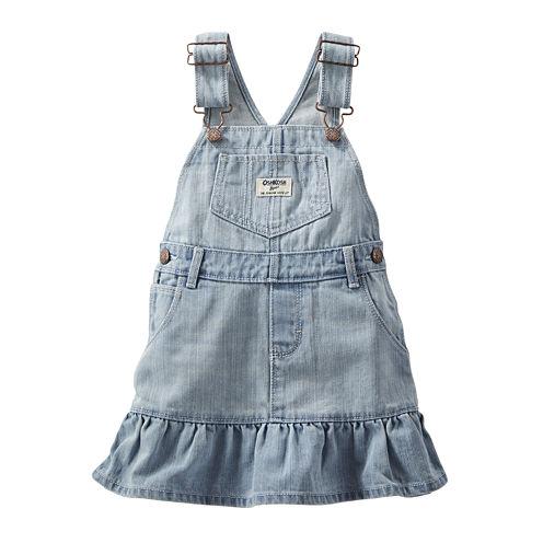 OshKosh B'gosh® Ruffle-Hem Denim Jumper - Baby Girls 3m-24m