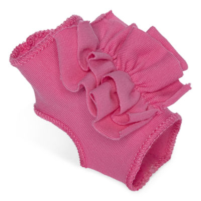 Okie Dokie® Pink Peep-Toe Socks- Newborn-12 Months