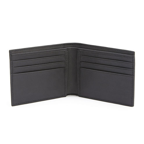 Royce® Saffiano Leather Hipster Bifold Wallet