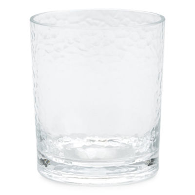 Outdoor Oasis™ Set of 4 Clear Hammered Double Old-Fashioned Glasses