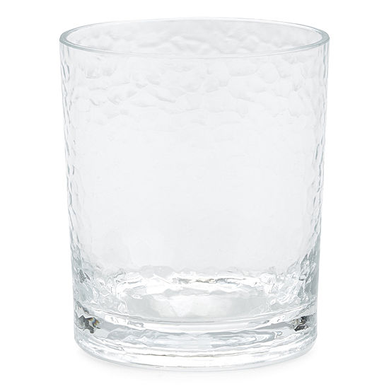 Outdoor Oasis™ Set of 4 Hammered Double Old-Fashioned Glasses