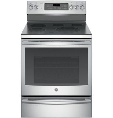 "GE Profile™  30""  5.3 Cu. Ft. Electric Range with Convection Oven  and  Warming Drawer"