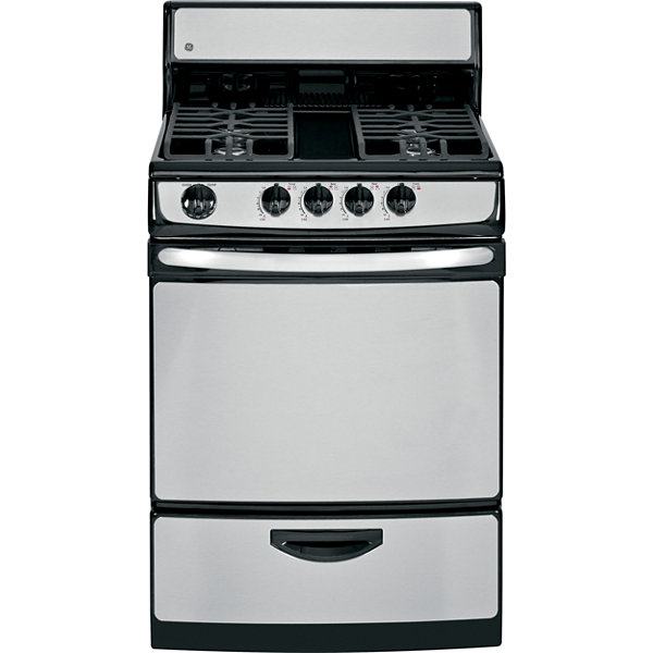 "GE® 24"" 3.0 Cu. Ft. Standard Clean Gas Range"