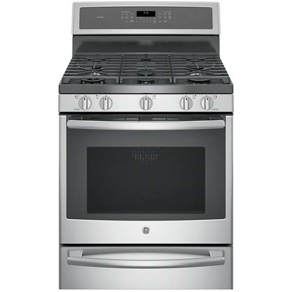 "GE Profile™  30"" 5.6 Cu. Ft. Dual-Fuel Range with Convection Oven  and  Warming Drawer"