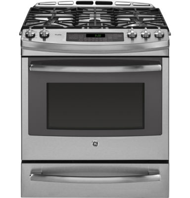 "GE Profile™  30"" 5.9 Cu. Ft. Dual Fuel Range with Convection Oven  and  Warming Drawer"