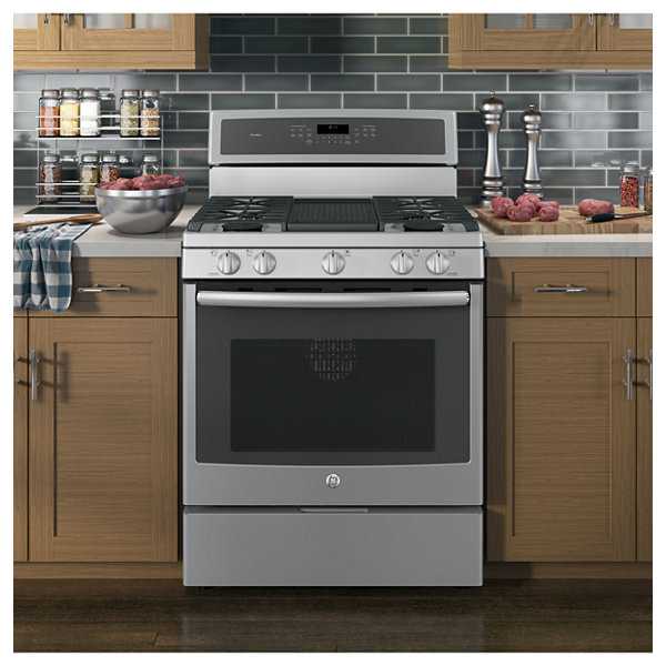 "GE Profile™  30"" 5.6 Cu. Ft. Gas Range with Self Cleaning Convection Oven"