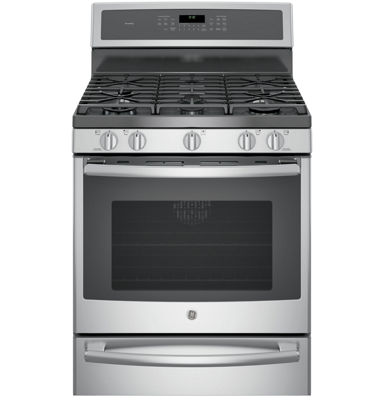 "GE Profile™  30"" 5.6 Cu. Ft. Gas Range with Convection Oven and Warming Drawer"