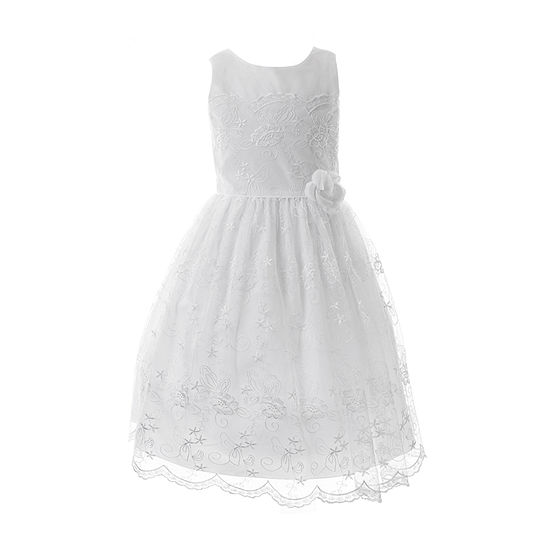 Keepsake First Communion Girls Sleeveless Fit & Flare Dress - Big Kid