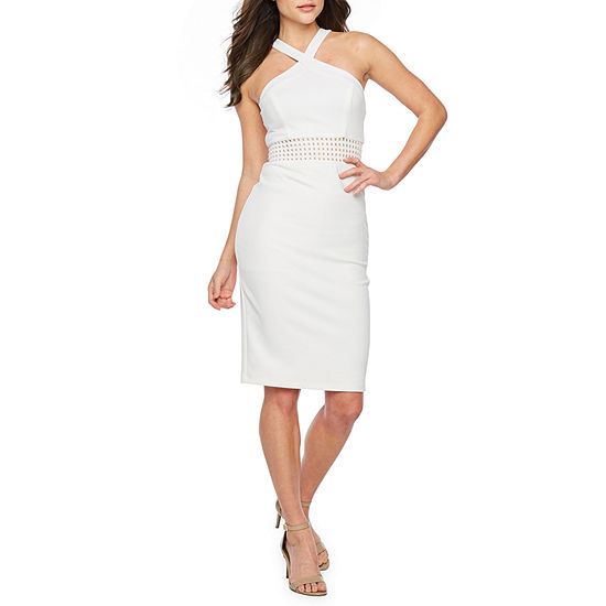 Premier Amour Sleeveless Midi Sheath Dress