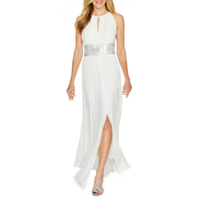 R & M Richards Sleeveless Embellished Evening Gown